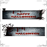 Изолированные знамена хеллоуина дерева смерти Стоковая Фотография