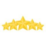 Изолированные золотые звезды классифицируя комплект, вектор иллюстрация штока