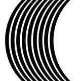 Изолированные линии с эффектом искажения на белой предпосылке Geome Стоковые Фотографии RF