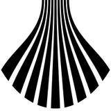 Изолированные линии с эффектом искажения на белой предпосылке Geome Стоковые Изображения RF