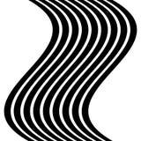 Изолированные линии с эффектом искажения на белой предпосылке Geome Стоковая Фотография