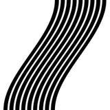 Изолированные линии с эффектом искажения на белой предпосылке Geome Стоковое Изображение
