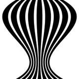 Изолированные линии с эффектом искажения на белой предпосылке Geome Стоковое фото RF
