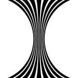 Изолированные линии с эффектом искажения на белой предпосылке Geome Стоковая Фотография RF