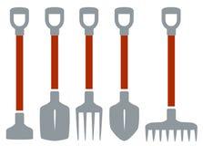 Изолированные инструменты для садовничая работы Стоковое Изображение