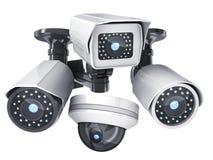 Изолированные камеры CCTV Стоковое фото RF