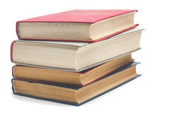 изолированные книги штабелируют белизну Стоковые Фото