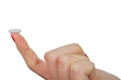 Изолированные контактные линзы Стоковые Фотографии RF