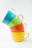 Изолированные кофейные чашки Стоковые Изображения