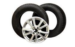 изолированные колеса автомобиля Стоковые Фотографии RF