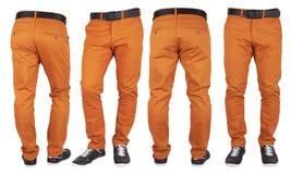 изолированные красные брюки стоковая фотография rf