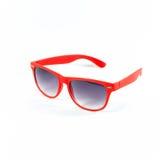 изолированные красные солнечные очки Стоковое Изображение