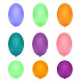 Изолированные красочные воздушные шары иллюстрация вектора