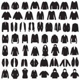 Изолированные куртка, пальто, свитер, блузка и костюм Стоковое фото RF