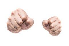 Изолированные кулаки пунша Стоковая Фотография
