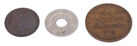 Изолированные монетки Палестины стоковые изображения rf