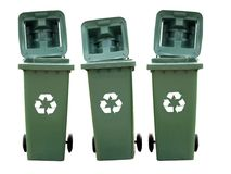 Изолированные мусорные корзины Стоковые Фото