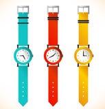 Изолированные наручные часы часов Стоковые Фото
