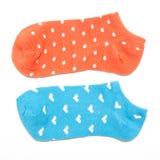 изолированные носки белые Стоковое Изображение RF