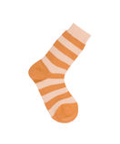 Изолированные носки striped апельсином Стоковые Фотографии RF