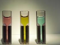 Изолированные образцы лаборатории для химии и биотехнологии, Стоковые Фотографии RF