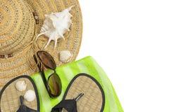 Изолированные объекты летних каникулов Стоковые Фото