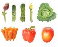 Изолированные овощи Стоковые Изображения RF