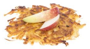 Изолированные оладььи картошки Стоковая Фотография