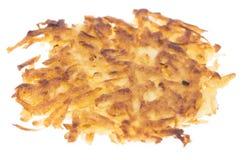 Изолированные оладььи картошки Стоковые Фотографии RF
