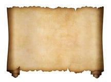 Изолированные пергамент или постаретый перечень рукописи Стоковые Фото