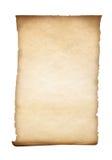 Изолированные пергамент или старая бумага Стоковые Фото