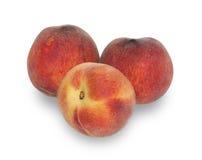 изолированные персики зрелые 3 Стоковая Фотография RF
