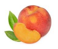 Изолированные персики Стоковые Фотографии RF