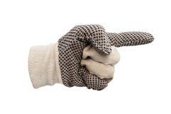 Изолированные перчатки работы Стоковые Фотографии RF