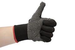 Изолированные перчатки черной поковки Стоковые Изображения