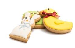 Изолированные печенья пасхи Стоковые Фото