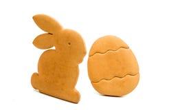 Изолированные печенья пасхи Стоковое Фото