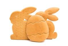 Изолированные печенья пасхи Стоковая Фотография RF