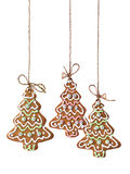 Изолированные печенья рождественской елки Стоковое Изображение RF