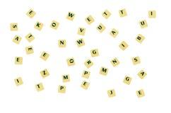 Изолированные письма Стоковая Фотография RF