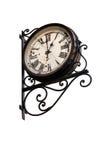 Изолированные ретро часы на белой предпосылке Стоковое Изображение