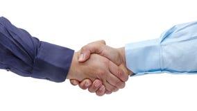 Изолированные руки бизнесменов Handshaking твердые акции видеоматериалы