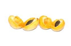 Изолированные свежие фрукты абрикоса Стоковые Изображения RF