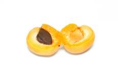 Изолированные свежие фрукты абрикоса Стоковые Фотографии RF