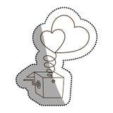 Изолированные сердце и дизайн коробки бесплатная иллюстрация