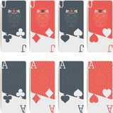 Изолированные символы покера Стоковые Фото