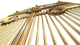 Изолированные стробы раев золотые Стоковые Изображения