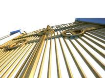 Изолированные стробы раев золотые Стоковое Изображение RF