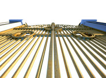 Изолированные стробы раев золотые Стоковая Фотография