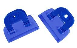 Изолированные струбцины - синь Стоковые Фотографии RF